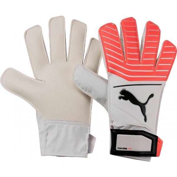 Růžovo-šedé pánské brankářské fotbalové rukavice Puma
