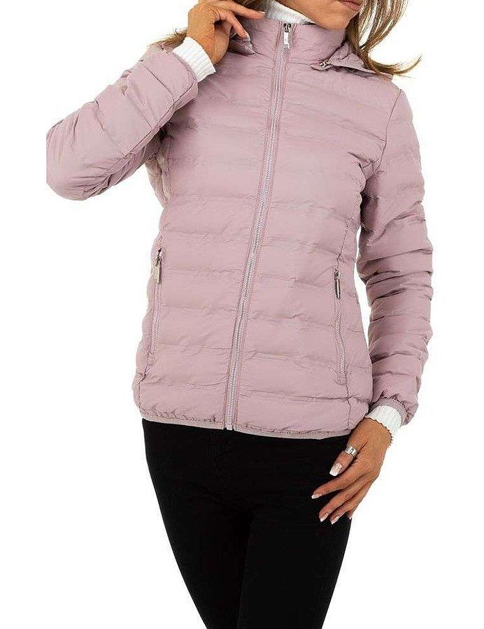 Růžová zimní dámská bunda - velikost S