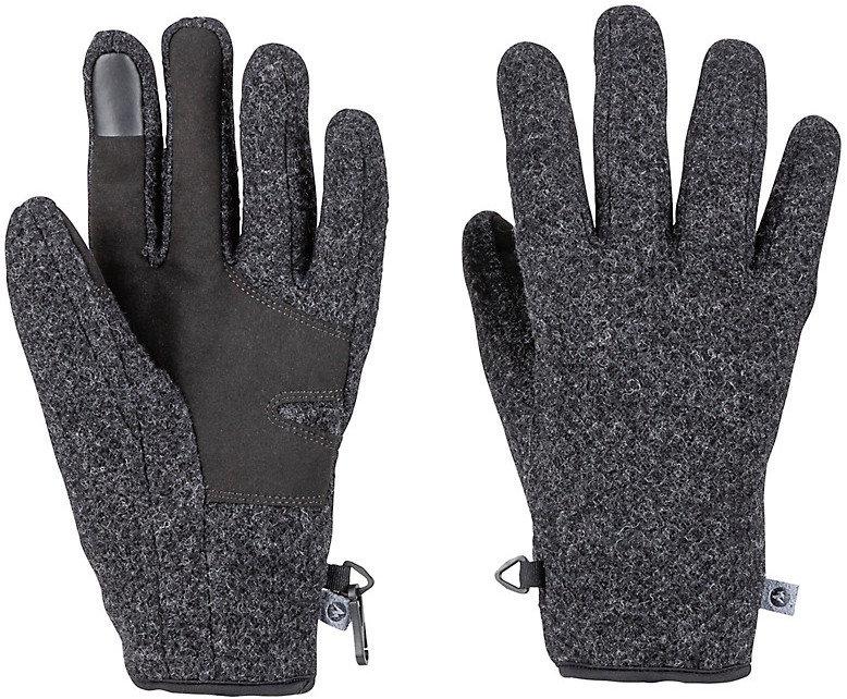 Šedé pánské zimní rukavice Marmot - velikost M