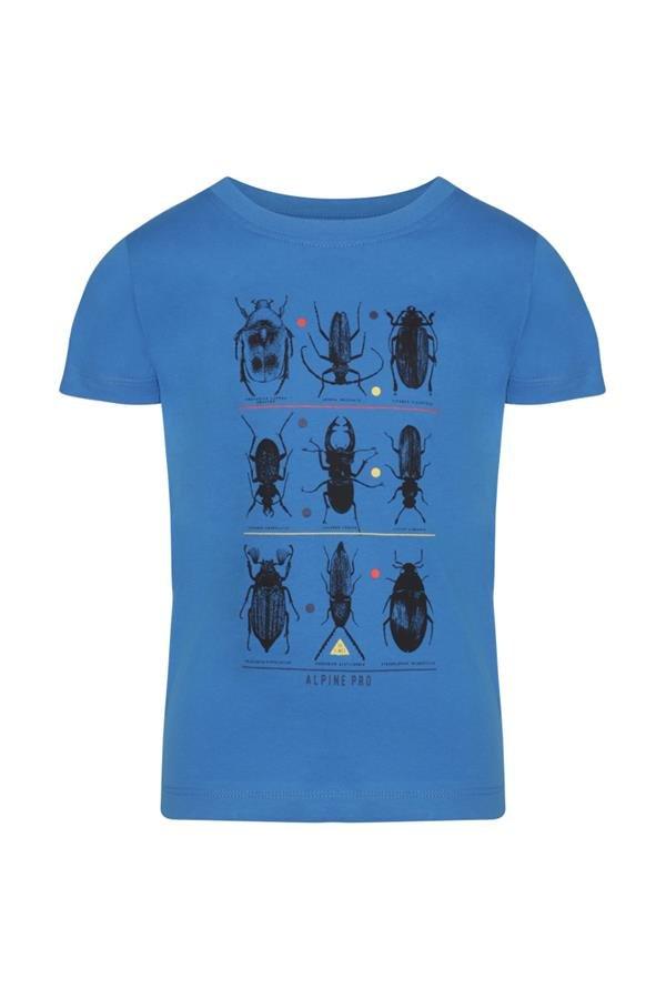 Modré dětské tričko s krátkým rukávem Alpine Pro - velikost 104-110