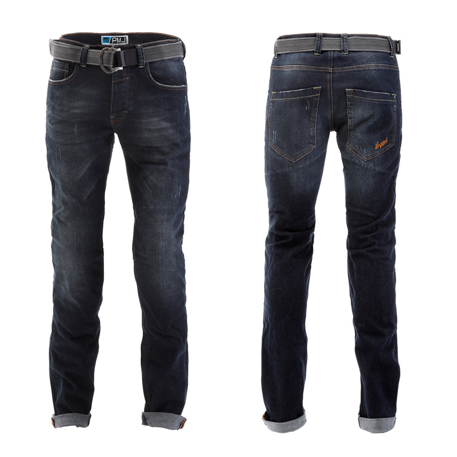 Modré pánské motorkářské kalhoty Legend, PMJ Promo Jeans