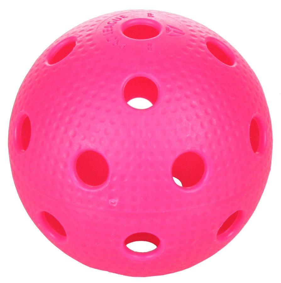 Růžový florbalový míček Precision Pro League, PRECISION