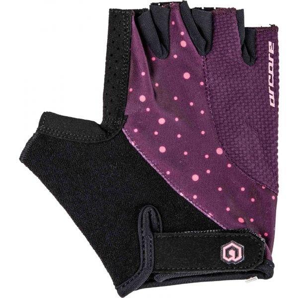 Černo-fialové cyklistické rukavice Arcore