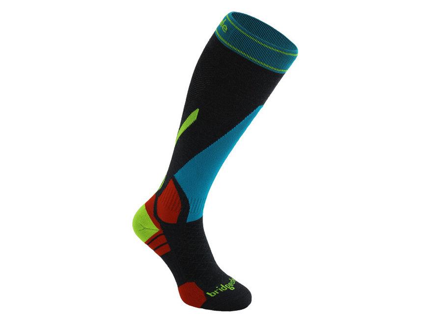 Černo-modré pánské lyžařské ponožky Bridgedale - velikost 40-43 EU