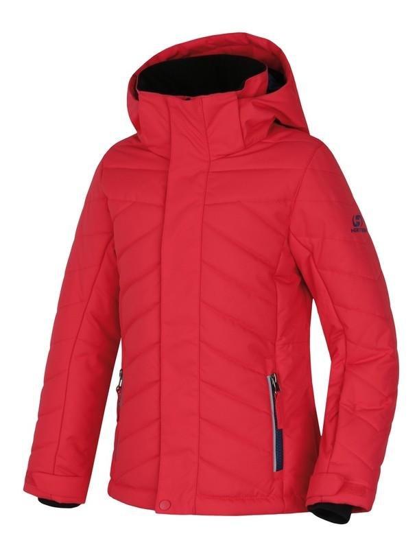 Červená dívčí lyžařská bunda Hannah - velikost 140