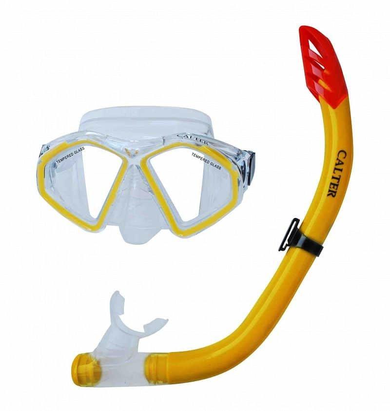Potápěčská maska - Potápěčský set CALTER SENIOR S09+M283 P+S, žlutý