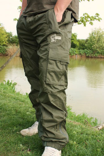 Zelené pánské rybářské kalhoty Lightweight Waterproof Trousers, Nash Tackle - velikost XXL
