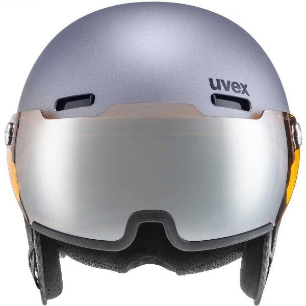 Šedá pánská lyžařská helma Uvex - velikost 59-62 cm