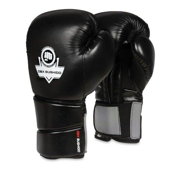 Černo-šedé boxerské rukavice Bushido