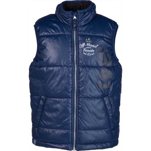 Modrá fleecová dětská vesta Lewro
