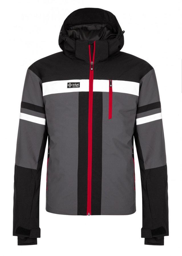 Černo-šedá zimní pánská bunda Kilpi