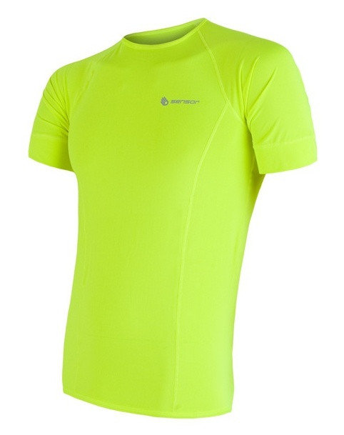 Žluté pánské tričko s krátkým rukávem Sensor - velikost S