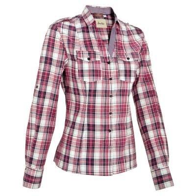 Bílo-růžová dámská jezdecká košile s dlouhým rukávem Okkso - velikost 44