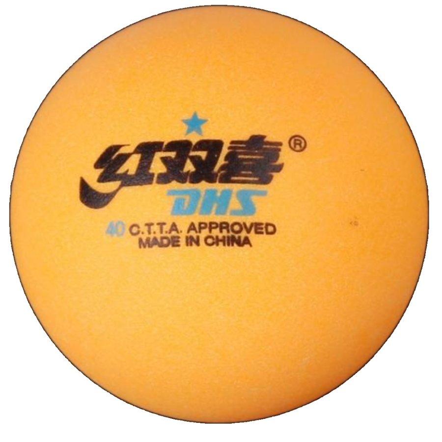 Oranžový míček na stolní tenis DHS - 6 ks