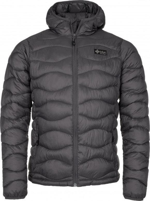Šedá zimní pánská bunda s kapucí Kilpi