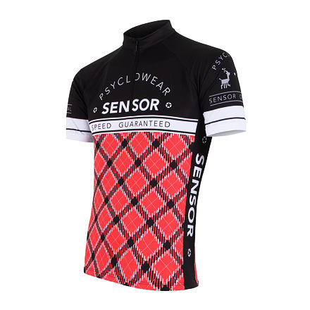 Černo-červený pánský cyklistický dres Sensor - velikost S