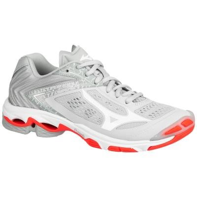 Stříbrné dámské boty na volejbal Mizuno