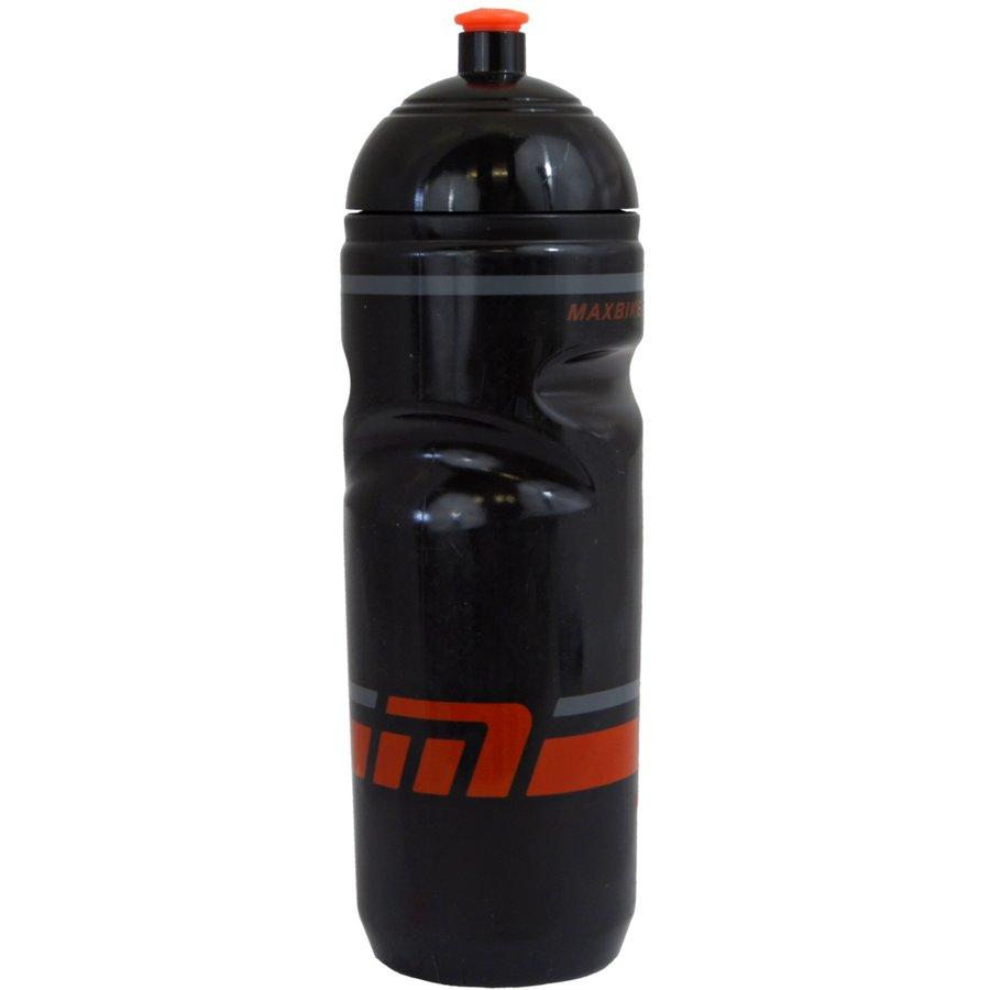 Černá cyklistická láhev na pití Maxbike - objem 0,8 l