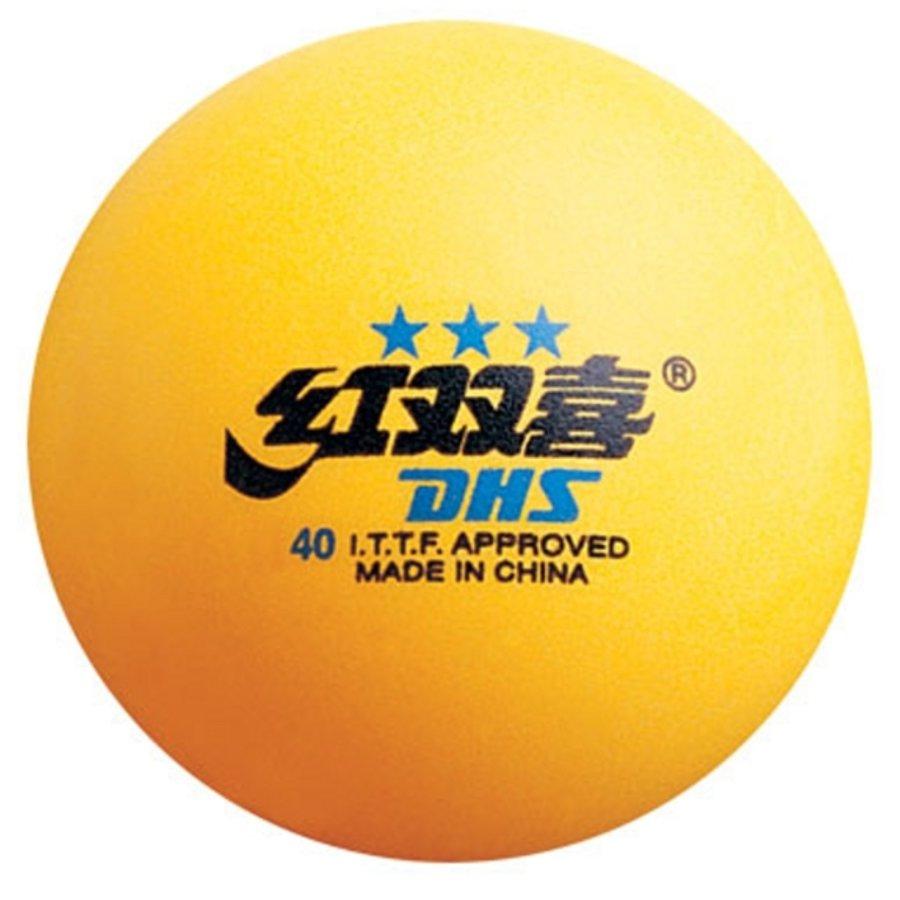 Žlutý míček na stolní tenis DHS - 3 ks