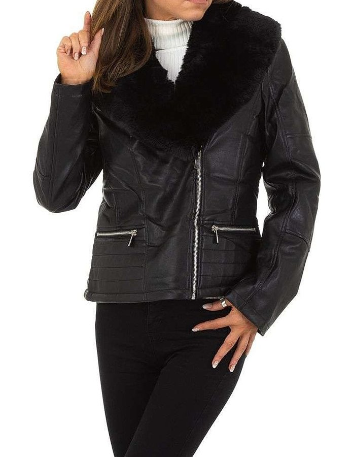 Černá zimní dámská bunda - velikost S