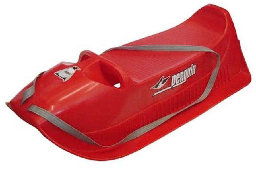 Červené plastové dětské sáňky Plastkon