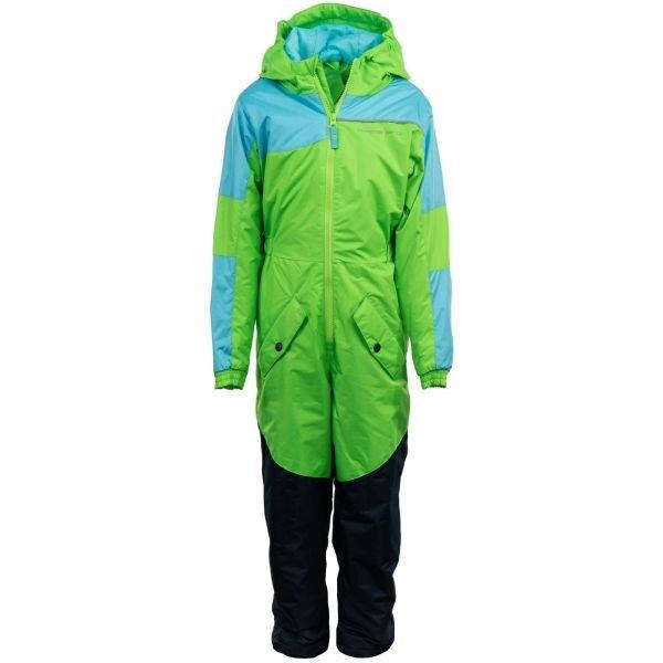 Zelený dětský lyžařský komplet Alpine Pro - velikost 80-86