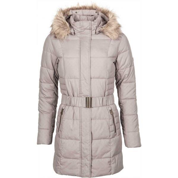Béžový prošívaný dámský kabát Willard