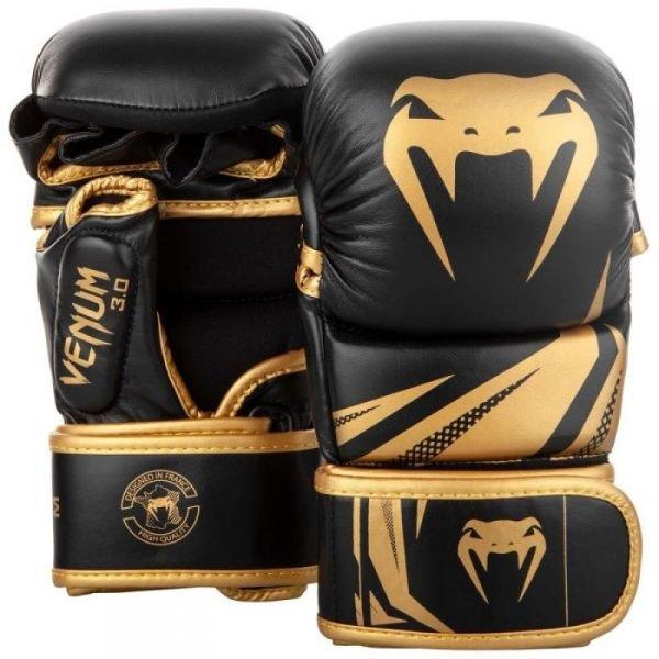 Černo-zlaté boxerské rukavice Venum