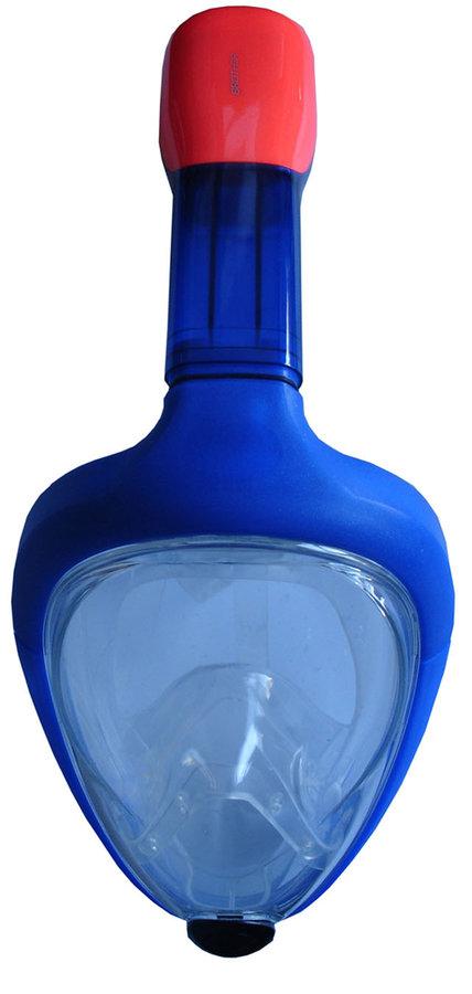 Potápěčská maska - ACRA Potápěčská maska celoobličejová junior se šnorchlem Barva: modrá