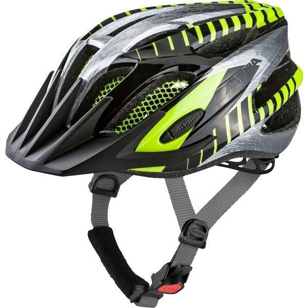 Černo-šedá pánská cyklistická helma Alpina