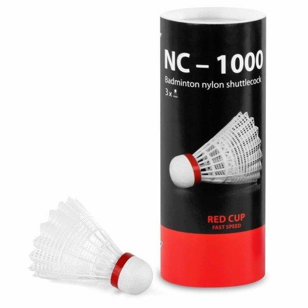 Bílý plastový badmintonový míček Tregare - 3 ks