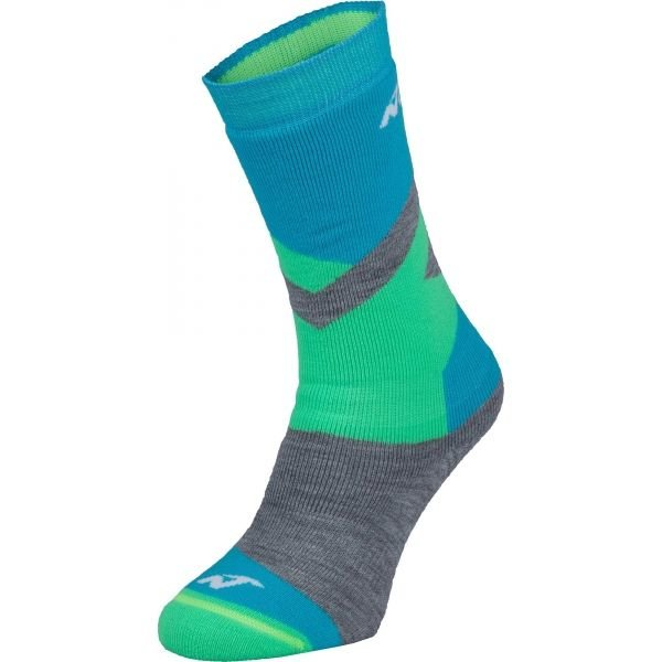 Modro-zelené chlapecké lyžařské ponožky Nordica