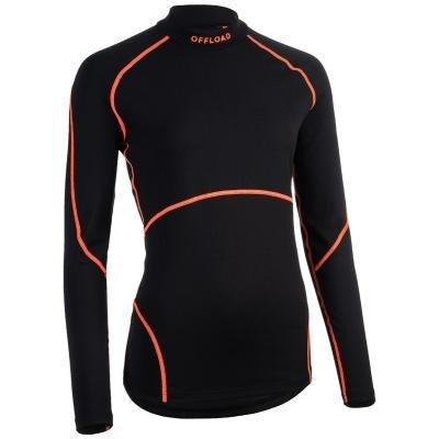 Černý dámský ragbyový dres R500, Offload