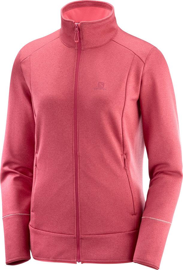 Růžová dámská lyžařská mikina bez kapuce Salomon