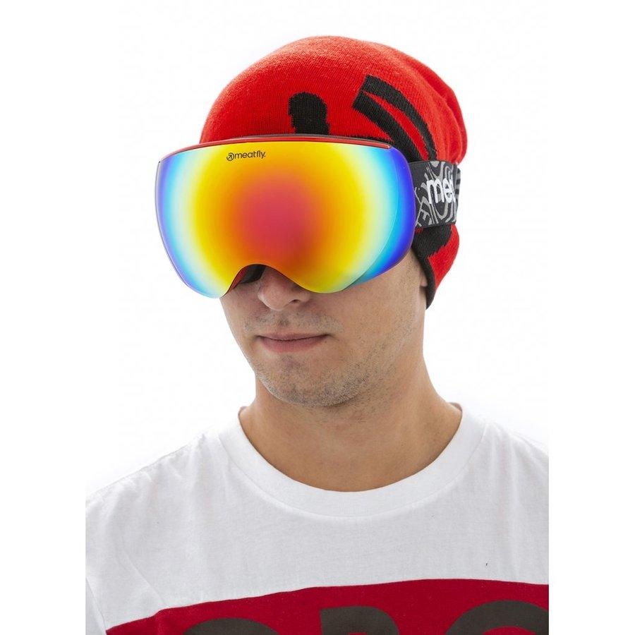 Brýle na snowboard - Meatfly Ekko XL Goggles A - Red Velikost: XL
