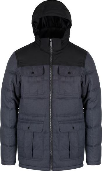Šedá zimní pánská bunda s kapucí Regatta - velikost S