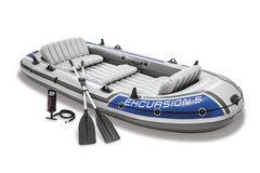 Šedý nafukovací člun pro 5 osob Excursion 5, INTEX