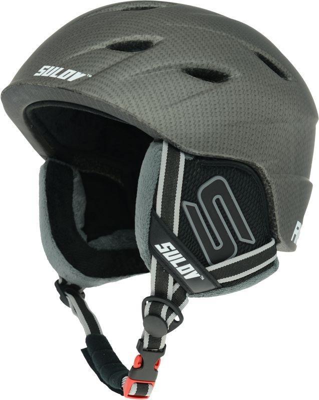 Šedá lyžařská helma Sulov - velikost 58-61 cm