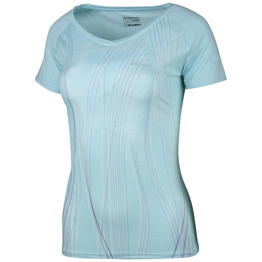 Tyrkysové dámské tričko s krátkým rukávem Husky