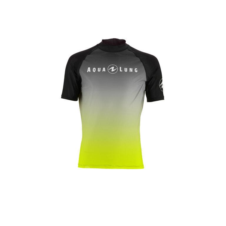 Černé pánské lycrové tričko Black Radience Lime, Aqualung
