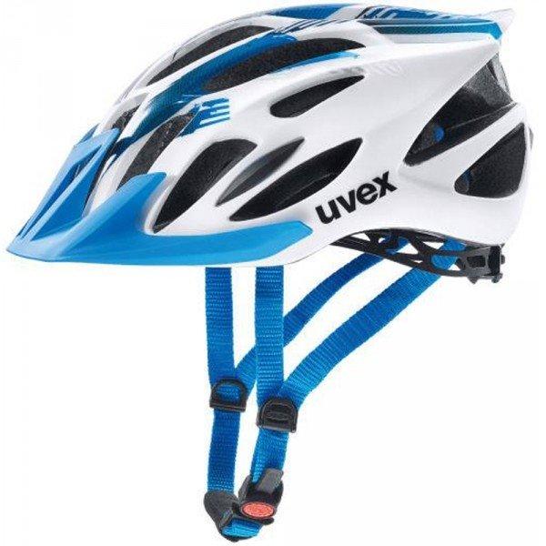 Bílo-modrá cyklistická helma Uvex