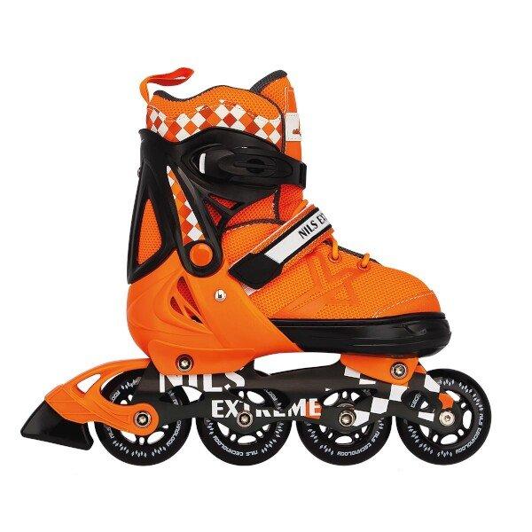 Oranžové kolečkové brusle Nils Extreme