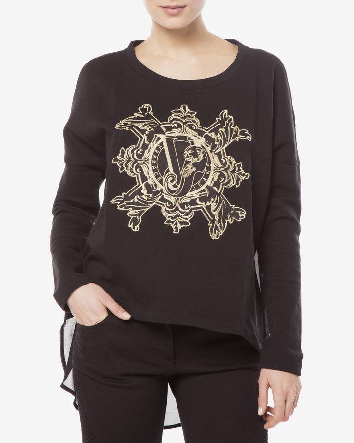 Černá dámská mikina Versace Jeans - velikost L