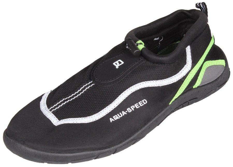 Černo-zelené boty do vody Jadran 24, Aqua-Speed - velikost 42 EU