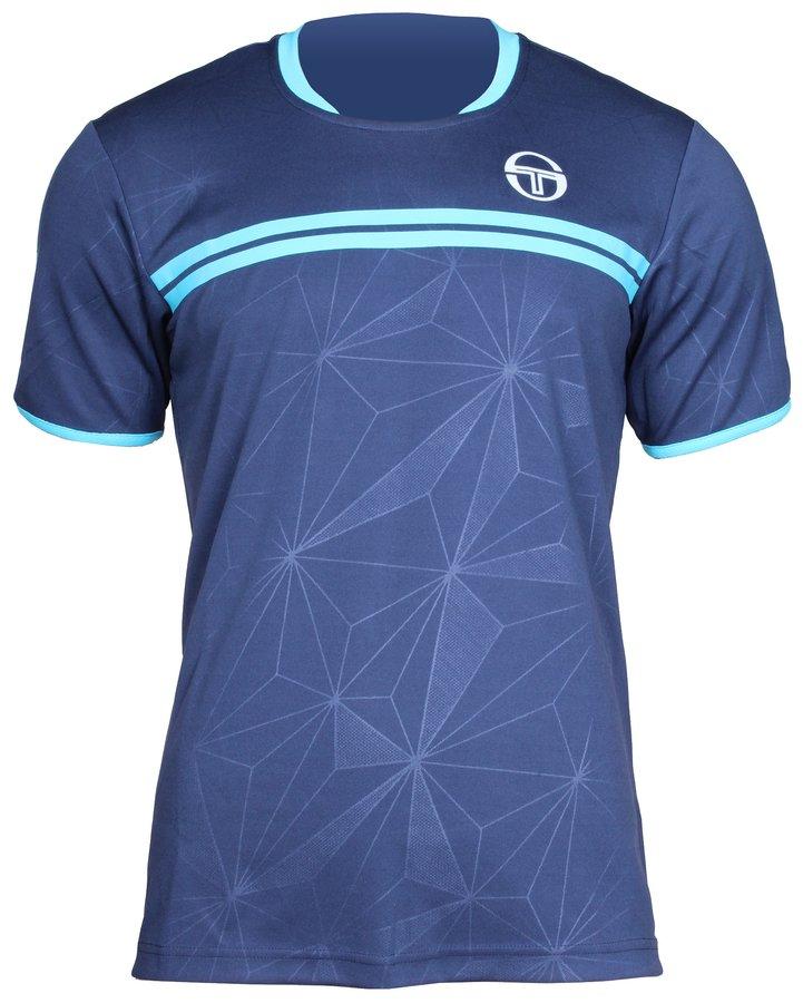 Modré pánské tenisové tričko Wilson - velikost M