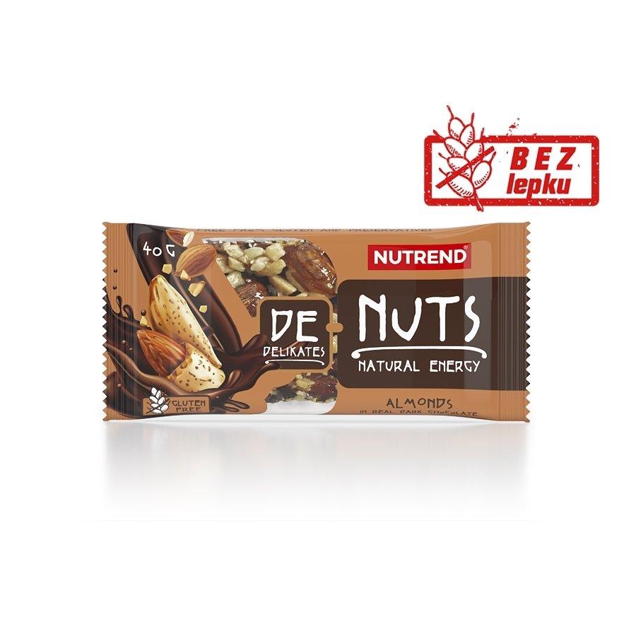 Energetická tyčinka - NUTREND DeNuts 40 g mandle v hořké čokoládě