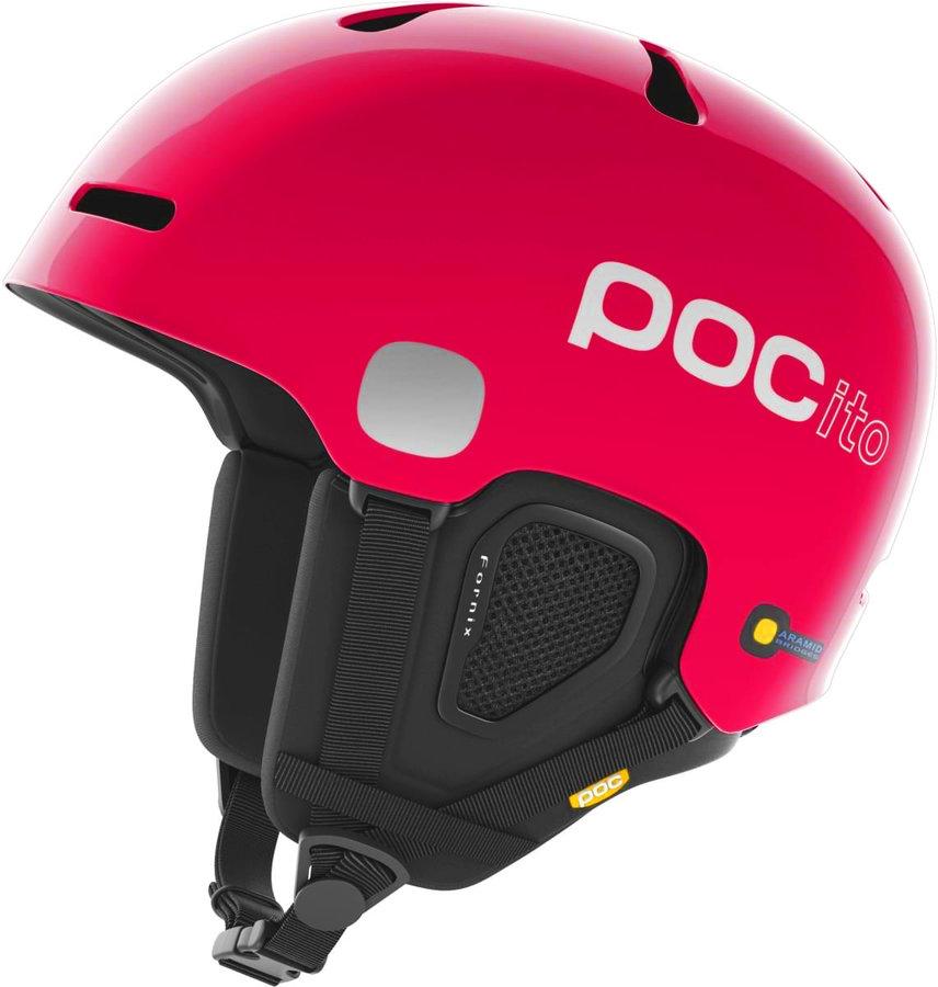 Růžová dětská lyžařská helma POC