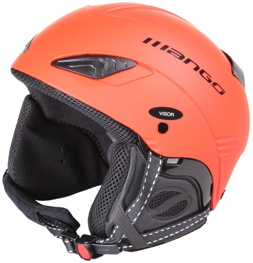 Oranžová lyžařská helma Wind Free, Mango - velikost 53-55 cm
