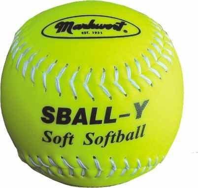 Žlutý softballový míček měkký Köck Sport