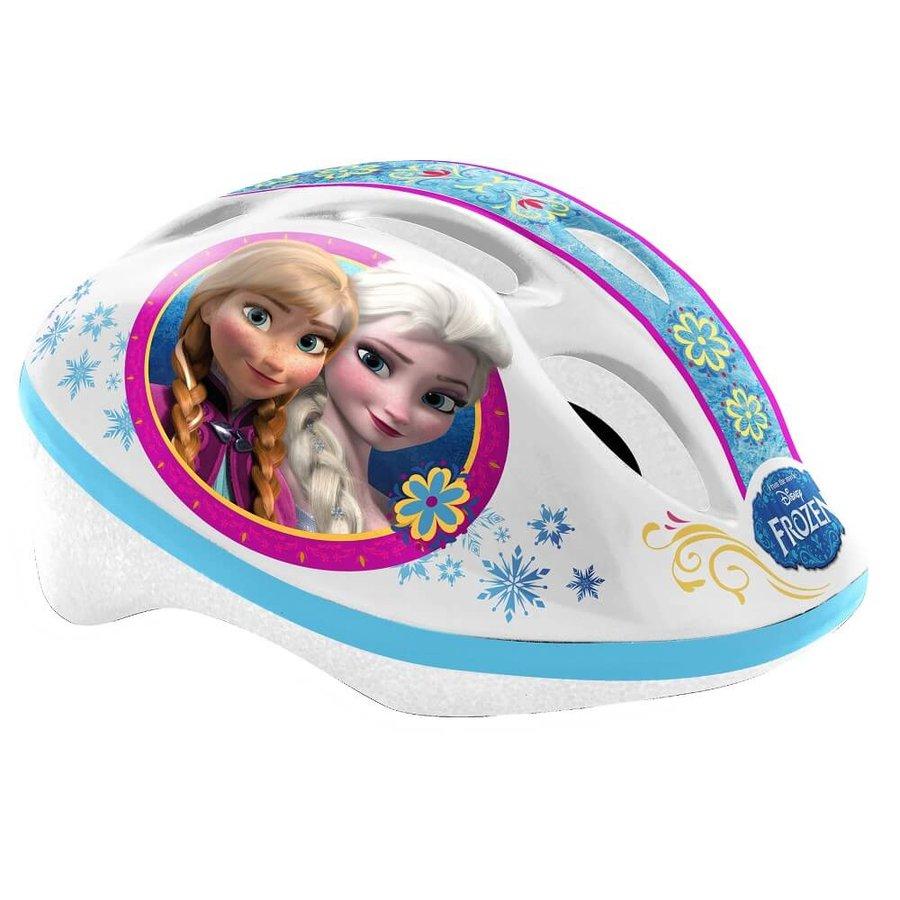 """Bílo-modrá dětská cyklistická helma """"Frozen"""" - velikost 46-53 cm"""